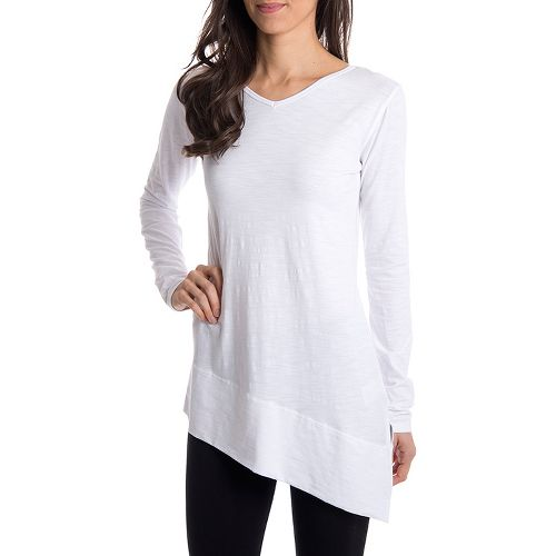 Womens Tasc Performance Swing Tunic Long Sleeve No Zip Technical Tops - White M