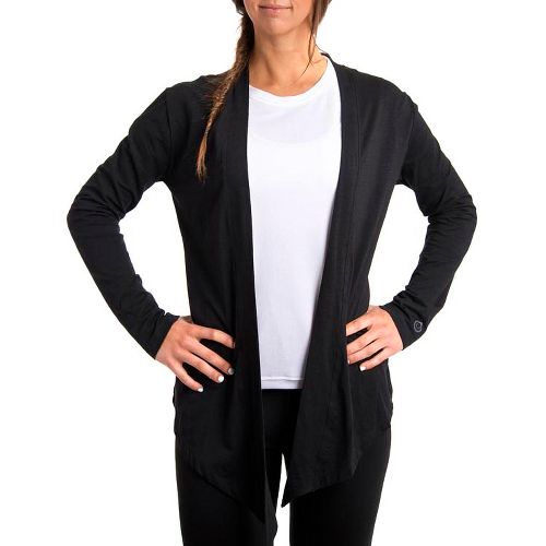Womens Tasc Performance Cool Down Shrug Long Sleeve No Zip Technical Tops - Black S ...