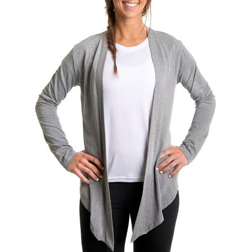 Womens Tasc Performance Cool Down Shrug Long Sleeve No Zip Technical Tops - Heather Grey ...