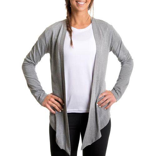 Womens Tasc Performance Cool Down Shrug Long Sleeve No Zip Technical Tops - Heather Grey ...
