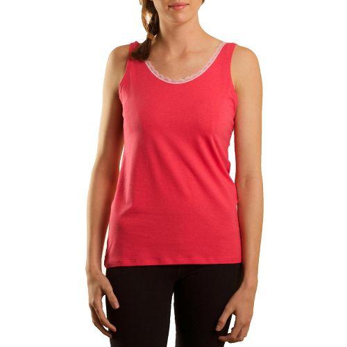 Womens Tasc Performance Serenity Cami Tanks Technical Tops - Watermelon/Petal Pink XL