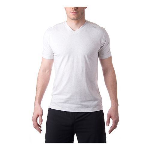 Mens Tasc Performance Vital V-Neck Short Sleeve Technical Tops - Ash Heather M