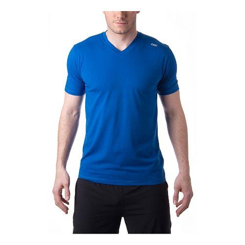Mens Tasc Performance Vital V-Neck Short Sleeve Technical Tops - Cobalt L