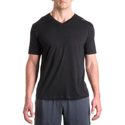Mens Tasc Performance Vital V-Neck Short Sleeve Technical Tops - Black XL