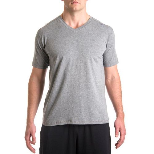 Mens Tasc Performance Vital V-Neck Short Sleeve Technical Tops - Heather Grey M