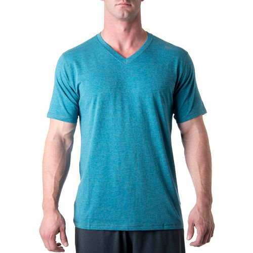Mens Tasc Performance Vital V-Neck Short Sleeve Technical Tops - Marina Heather XL