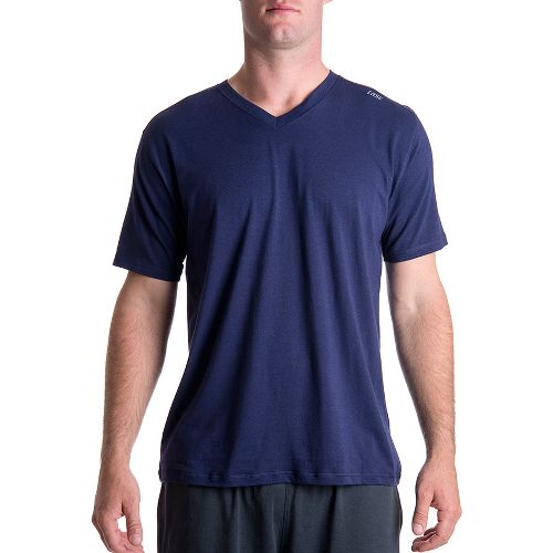 Mens Tasc Performance Vital V-Neck Short Sleeve Technical Tops - True Navy S