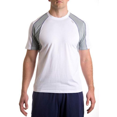 Mens Tasc Performance Zephyr T Short Sleeve Technical Tops - White/Storm XXL