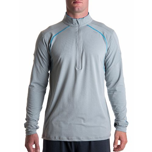 Mens Tasc Performance Circuit Long Sleeve 1/2 Zip Technical Tops - Storm XL