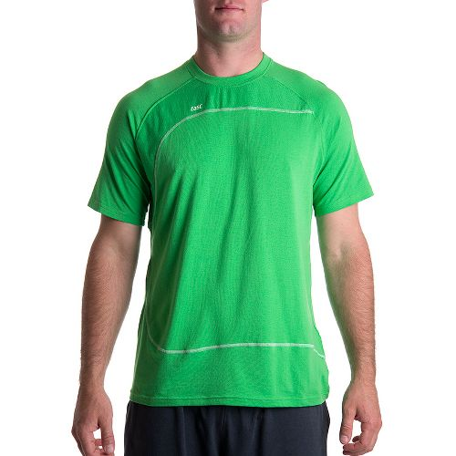 Mens Tasc Performance Slice T Short Sleeve Technical Tops - Fairway/White S