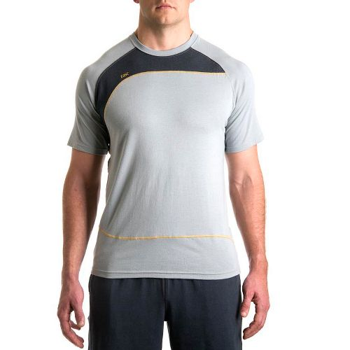 Mens Tasc Performance Slice T Short Sleeve Technical Tops - Storm/Gunmetal L