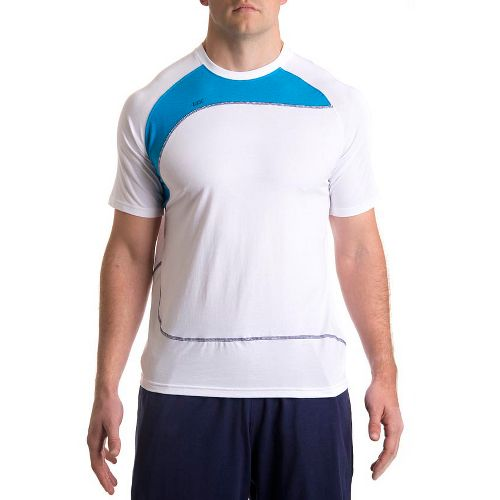 Mens Tasc Performance Slice T Short Sleeve Technical Tops - White/Tidal XL
