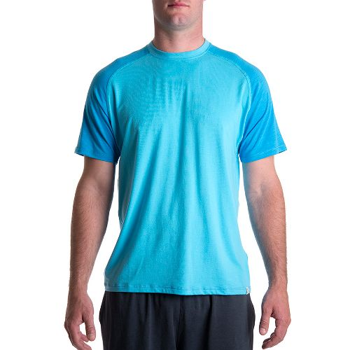 Mens Tasc Performance Coastal Short Sleeve Technical Tops - Catalina/Dark Catalina M