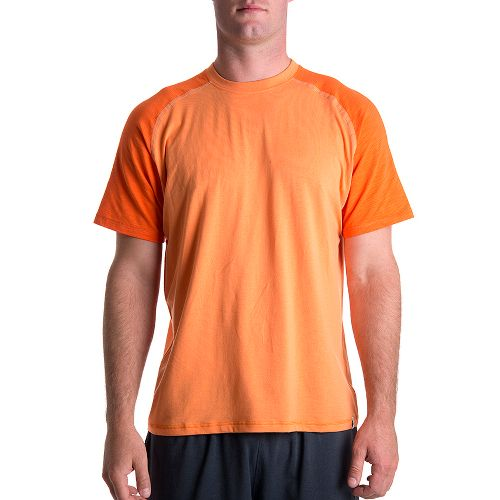 Mens Tasc Performance Coastal Short Sleeve Technical Tops - Sunset/Dark Sunset L