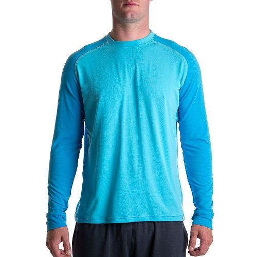 Mens Tasc Performance Coastal Long Sleeve No Zip Technical Tops - Catalina/Dark Catalina M
