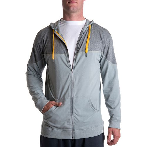 Mens Tasc Performance Pier Full-Zip Hood Warm-Up Hooded Jackets - Storm/Heather Grey XXL