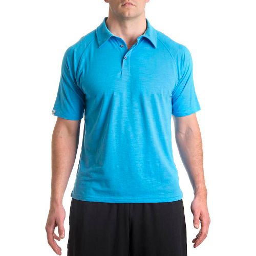 Mens Tasc Performance Trace Polo Short Sleeve Technical Tops - Dark Catalina S