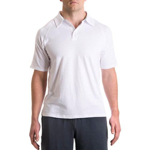 Mens Tasc Performance Trace Polo Short Sleeve Technical Tops - White XXL