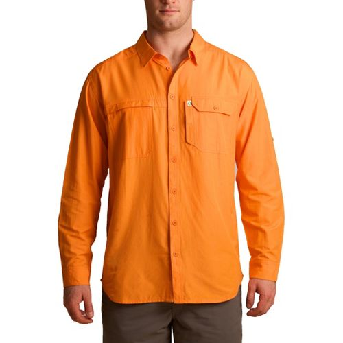 Mens Tasc Performance Ramble Shirt Long Sleeve No Zip Technical Tops - Sunset M