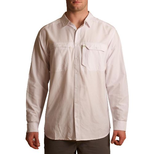 Mens Tasc Performance Ramble Shirt Long Sleeve No Zip Technical Tops - White L