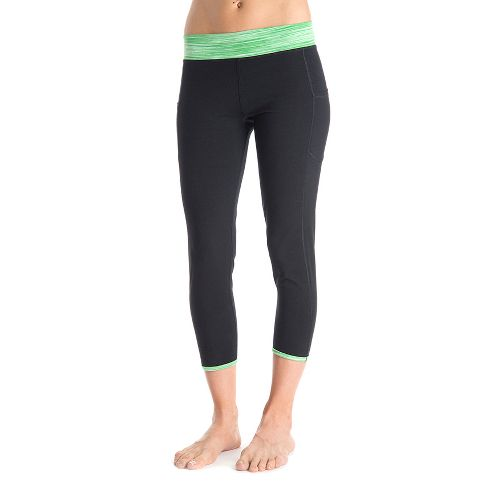 Womens Tasc Performance Pulse Crop Fitted Tights - Black M