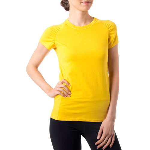 Womens Tasc Performance Zest T Short Sleeve Technical Tops - Honey Lemon L
