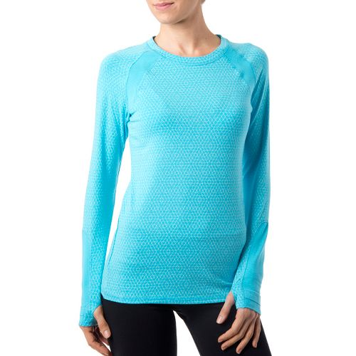 Womens Tasc Performance Aspire T Long Sleeve No Zip Technical Tops - Surf's Up/Ice Blue ...