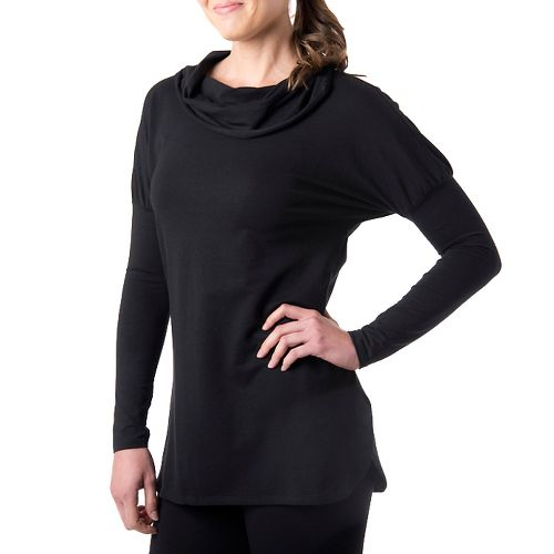 Womens Tasc Performance Cozy Cowl Long Sleeve No Zip Technical Tops - Black M