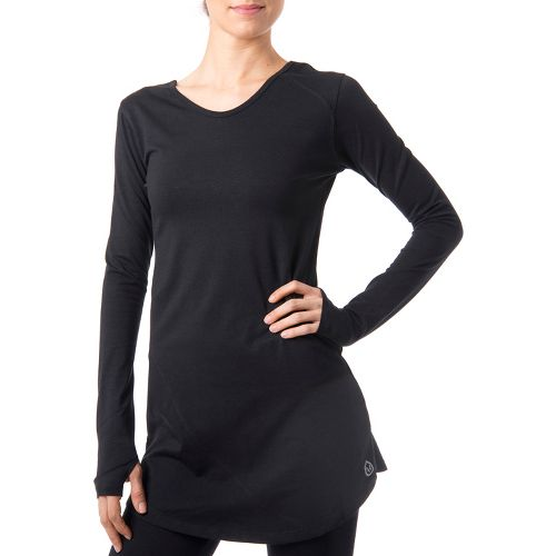 Womens Tasc Performance Inspire Tunic Long Sleeve No Zip Technical Tops - Black S