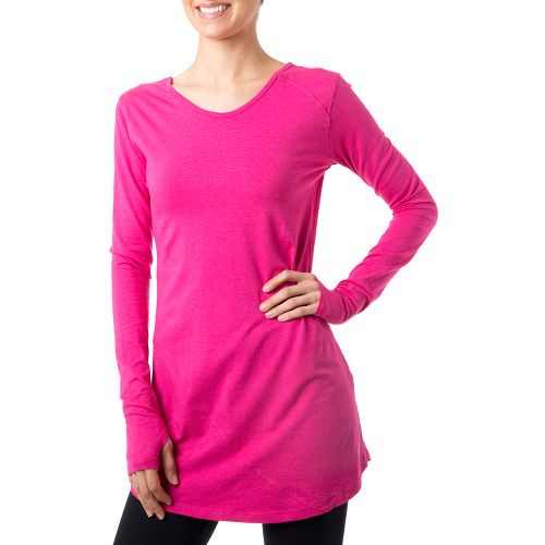 Womens Tasc Performance Inspire Tunic Long Sleeve No Zip Technical Tops - Fruit Punch S ...