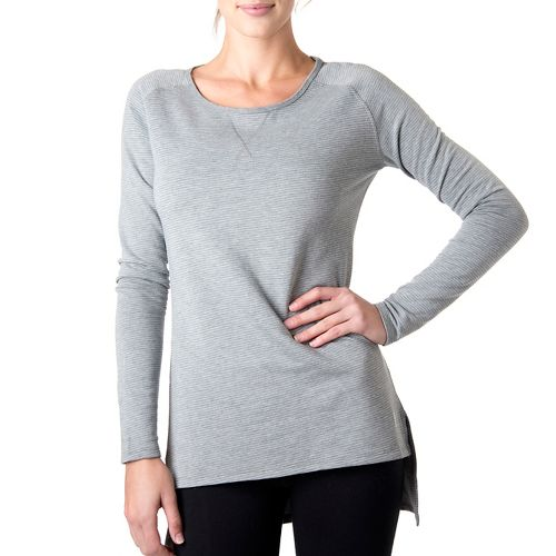 Womens Tasc Performance Rise Sweatshirt Long Sleeve No Zip Technical Tops - Heather Grey/Ice ...