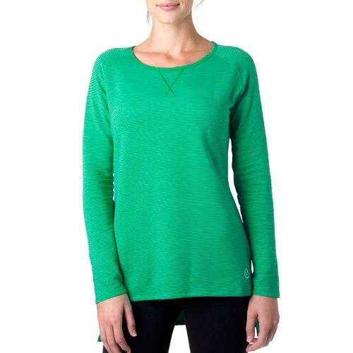 Womens Tasc Performance Rise Sweatshirt Long Sleeve No Zip Technical Tops - Rainforest/Ice Blue ...