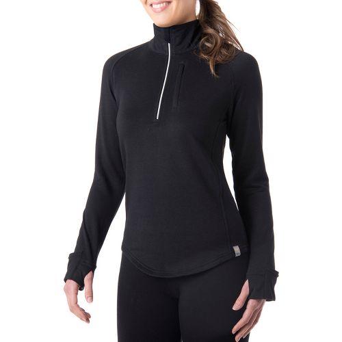 Womens Tasc Performance Northstar Fleece Long Sleeve 1/2 Zip Technical Tops - Black S