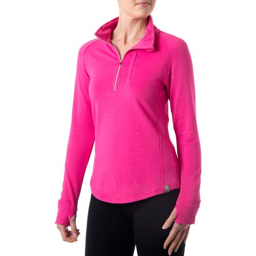 Womens Tasc Performance Northstar Fleece Long Sleeve 1/2 Zip Technical Tops - Fruit Punch L ...