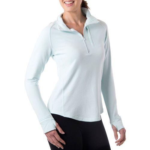 Womens Tasc Performance Northstar Fleece Long Sleeve 1/2 Zip Technical Tops - Ice Blue M ...
