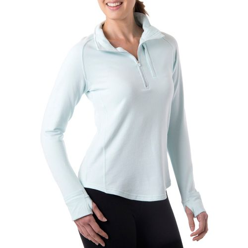 Womens Tasc Performance Northstar Fleece Long Sleeve 1/2 Zip Technical Tops - Ice Blue XL ...