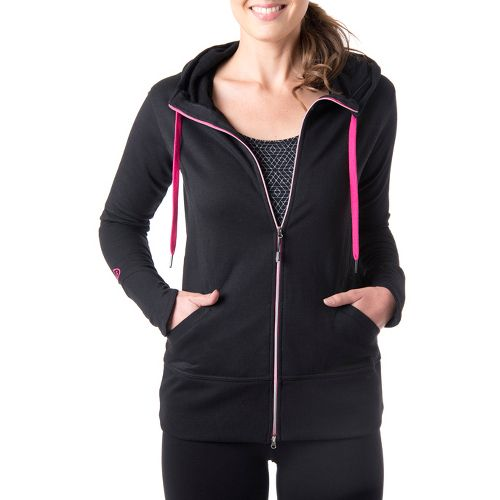 Womens Tasc Performance Escape Fleece Full Zip Hoodie Warm-Up Hooded Jackets - Black/Fruit ...