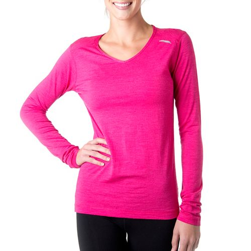 Womens Tasc Performance Tofino Merino Long Sleeve No Zip Technical Tops - Fruit Punch L ...