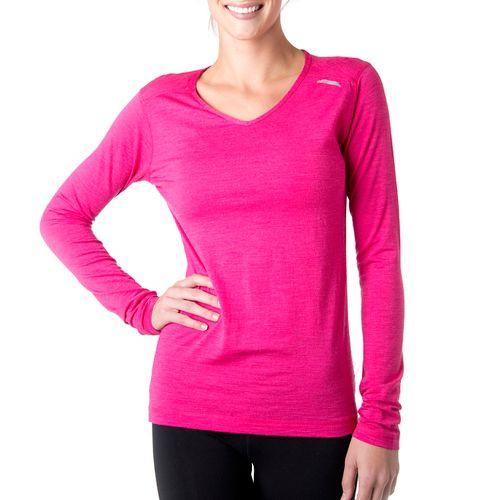 Womens Tasc Performance Tofino Merino Long Sleeve No Zip Technical Tops - Fruit Punch S ...