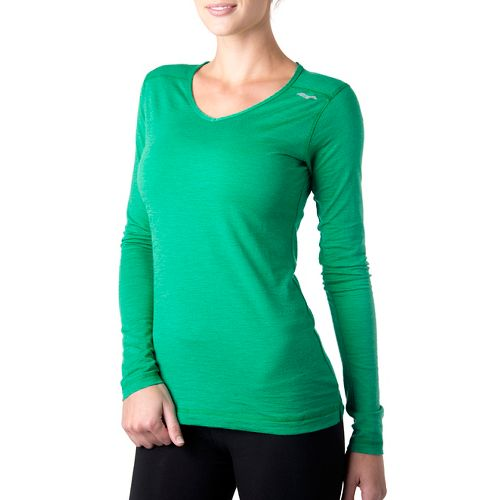 Womens Tasc Performance Tofino Merino Long Sleeve No Zip Technical Tops - Rainforest S