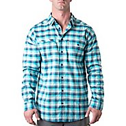 Mens Tasc Performance Traverse Plaid Shirt Long Sleeve Non-Technical Tops