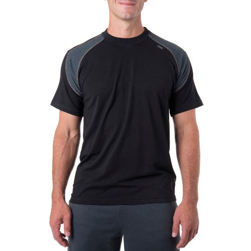Mens Tasc Performance Instinct T Short Sleeve Technical Tops - Black/Gunmetal L