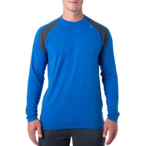 Mens Tasc Performance Instinct T Long Sleeve No Zip Technical Tops - Cobalt/Gunmetal XXL