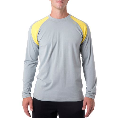 Mens Tasc Performance Instinct T Long Sleeve No Zip Technical Tops - Storm/Maize XXL