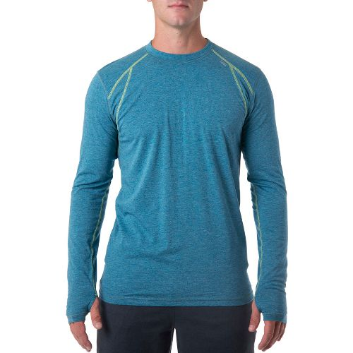 Mens Tasc Performance AT Tech Long Sleeve No Zip Technical Tops - Marina Heather M ...