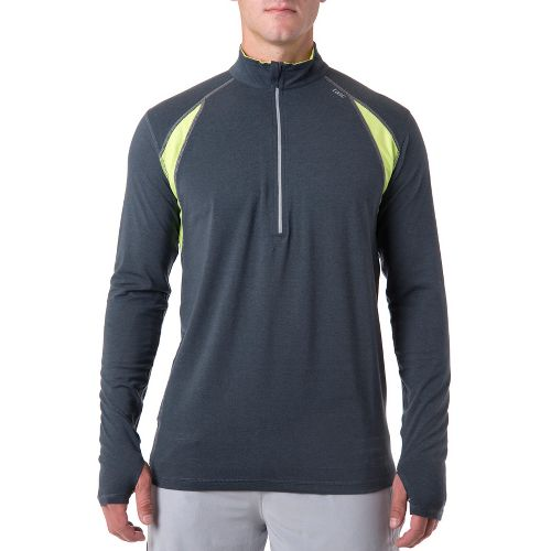 Mens Tasc Performance At Tech Long Sleeve 1/2 Zip Technical Tops - Gunmetal/Kryptonite XL