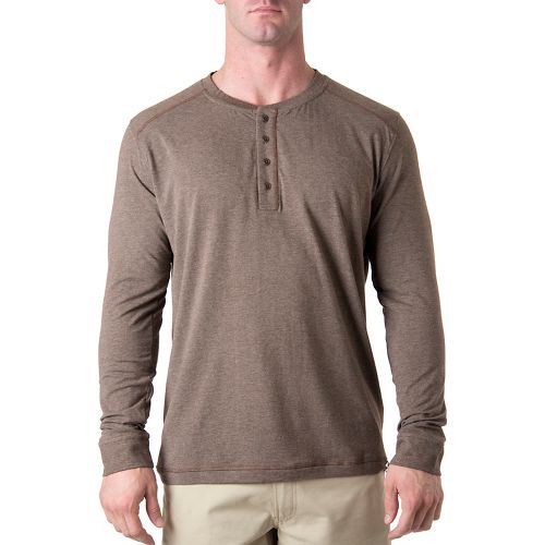 Mens Tasc Performance Ridge Henley Long Sleeve No Zip Technical Tops - Timber Heather S ...