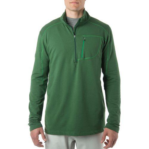 Tasc Performance Tahoe Fleece 1/2-Zip Long Sleeve Technical Tops - Pine Green S