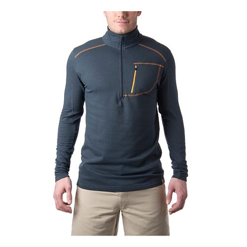 Tasc Performance Tahoe Fleece Long Sleeve 1/2 Zip Technical Tops - Gunmetal Orange XL
