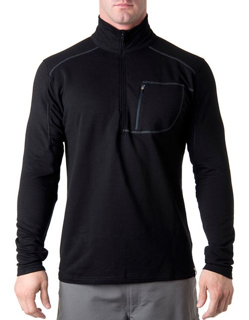 Tasc Performance Tahoe Fleece 1/2-Zip Long Sleeve Technical Tops - Black S
